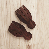 Recycled Sono Wood Hand Salad Servers