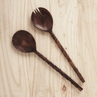 Large Recycled Sono Wood Salad Servers