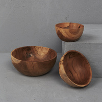 Hand Carved Teak Bowl