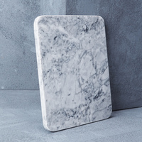 Natural Marble Cheeseboard in White