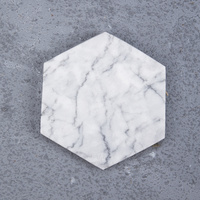 White Natural Marble Hexagon 4PC Coaster Sets