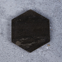 Black Natural Marble Hexagon 4PC Coaster Sets