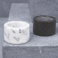 Natural Marble Salt & Pepper Bowls