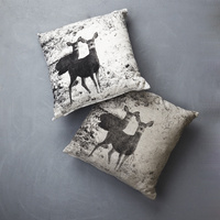 Deer Print Linen Cushion