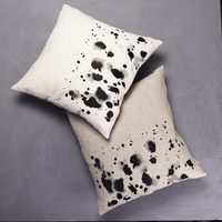 Painterly Splotch Border Cushion