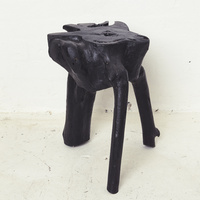 Black Elif Tree Root Stool