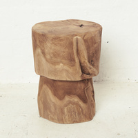 Devi Hourglass Tree Stump Stool