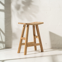 Sena Rustic Finish Bar Stool