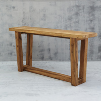 Elang Smooth Console in Rustic Finish