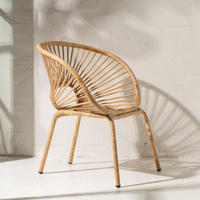 Kade Angular Rattan Armchair in Natural
