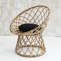 Harti Scoop Rattan Armchair with Cushion