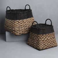 Black Trim Angular Basket