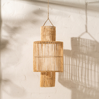 Handwoven Rattan Natural Cylindrical Lighting