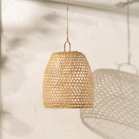 Handwoven Bamboo Natural Lighting with Handle