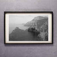 Amalfi Coast in Black & White 51 x 76