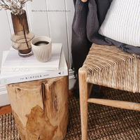 Hadi Natural Tree Stump Stool