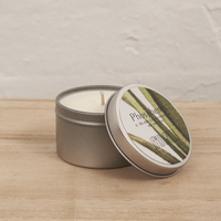 Hand Poured Soy Candle in Travel Tin [Fragrance: Lemongrass]