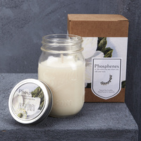 Hand Poured Soy Candle in Large Mason Jar