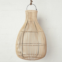 Handwoven Rattan Natural Drop Lighting