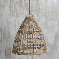 Handwoven Flat Rattan Natural Lighting