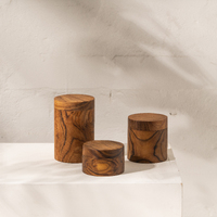 Huba Wooden Canisters