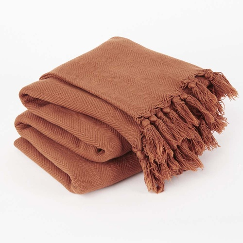 Vintage Wash Throw l Tobacco