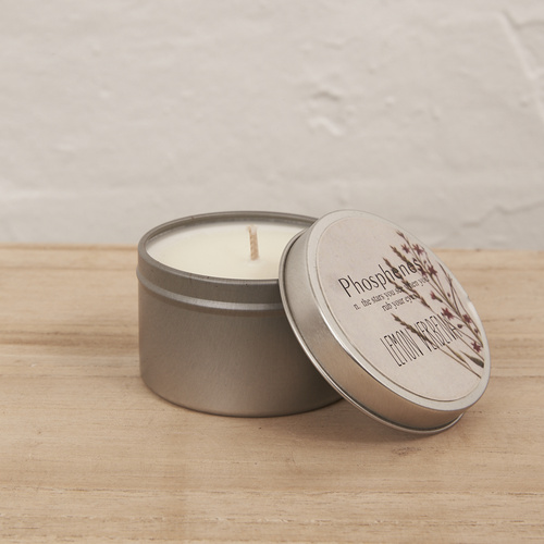 Hand Poured Soy Candle in Travel Tin - SILVER