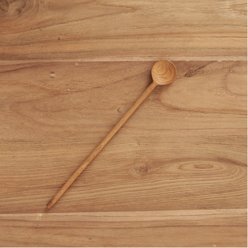 Lasha Hand Carved Tall Mixing Spoon