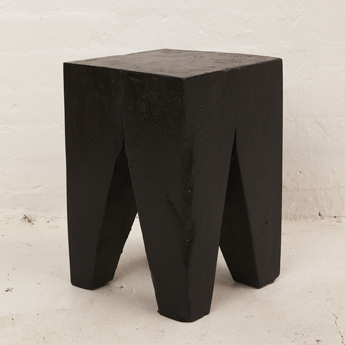 Rafi Peg Stool / Side Table Black