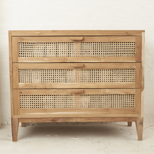 Ayana Rattan & Recycled Teak Drawers