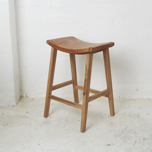 Kalinda Leather Barstool