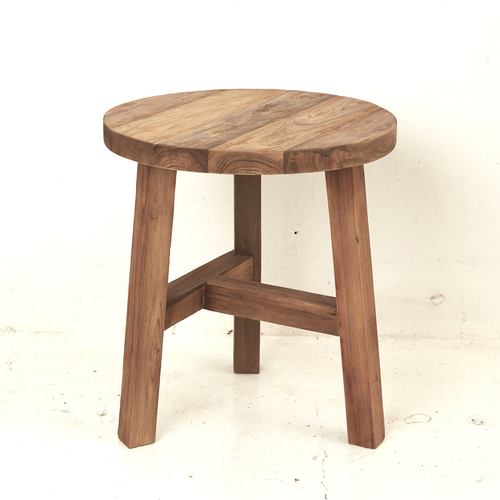 Evia Recycled Teak Side Table