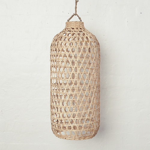 Handwoven Bamboo Tall Light Shade Natural