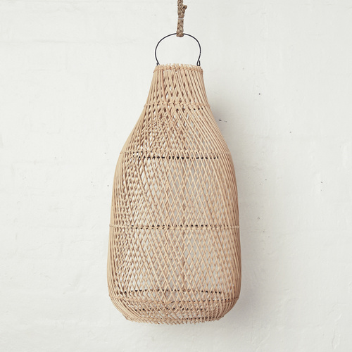 Handwoven Rattan Natural Tear Drop Light Shade
