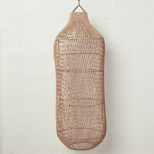 Handwoven Rattan Natural Oversized Light Shade