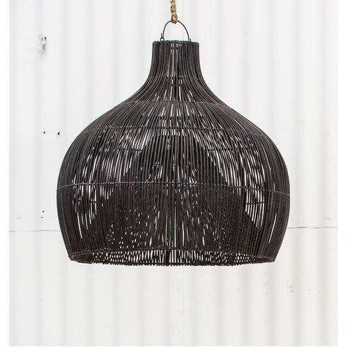 Dari Rattan Oversized Lighting in Black