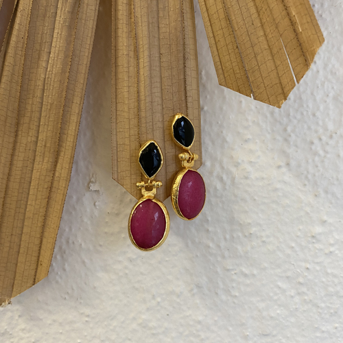 Calla Double Drop Earrings