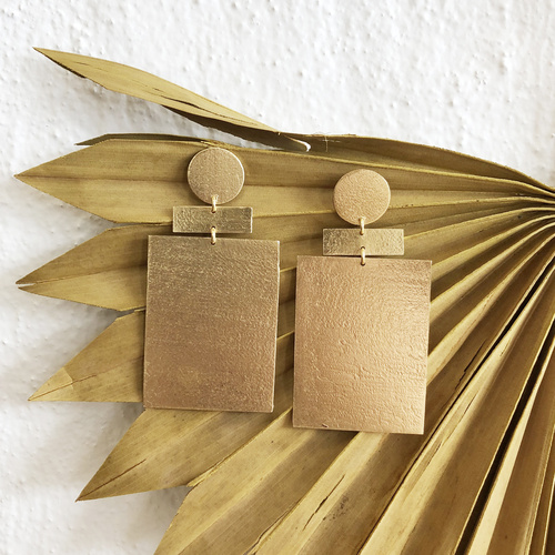 Zev Earrings Gold