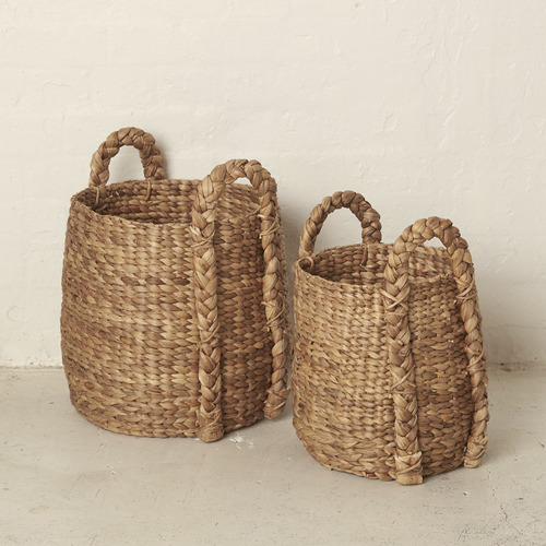 Bayyan Waterhyacinth Outside Handles Basket