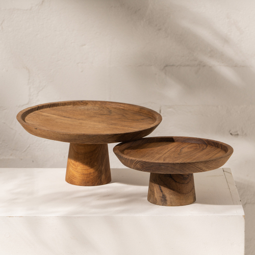 Jali Wooden Cake Stand