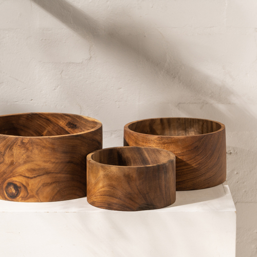 Jira Wooden Fruit Bowl