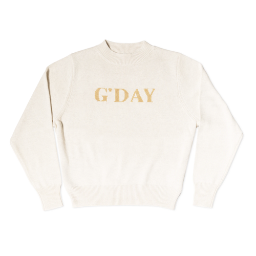 G'Day Knit Sweater - Wheat